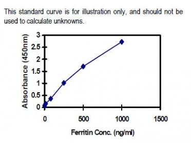 Ferritin ELISA Kit (Human) : 96 Wells (OKBA00001) in using KIT